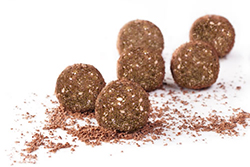 Sweet-tasting protein ball snacks